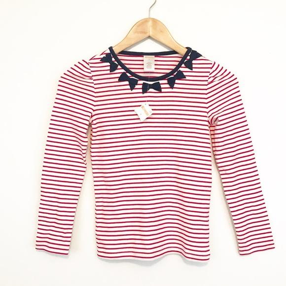 390587f9b9 Gymboree Nautical Red White Stripe Navy Bow TShirt